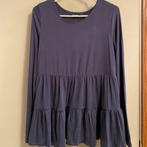 Long Sleeved Tiered Top (Stretchy)